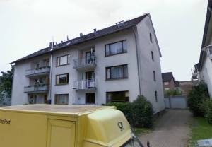 The old staff hostel in Bielefeld, kindly provided by John Bastock. The right hand centre balcony is my old room. The lower balcony that Doug reversed my car into is out of sight round the back.